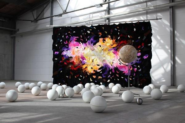 "Agustina Woodgate, ""Milky Ways,"" 2013.  ""Ad Astra."" Courtesy of Spinello Projects"