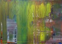 Sold for $1.6 million from Galerie Michael Schultz at Art Miami, Gerhard Richter's Abstraktes Bild, 2001, oil on aludibond, 19 1⁄2 x 28 1⁄2 inches.