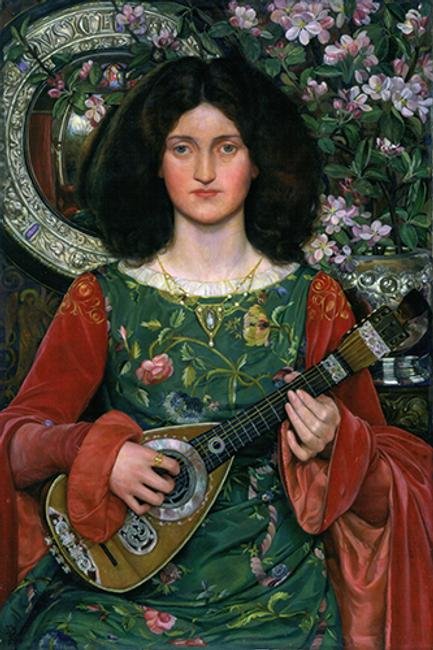 Kate Bunce, Musica, ca.  1895–97.  Oil on canvas, 40 3/16 x 30 3/16 x 1 3/4 in., Birmingham Museums Trust (1897P17).