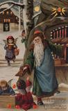 Lot 1234: Three Mailick Die-cut Hold-to-light Santa Postcards, Germany, Estimate $800-$1,200
