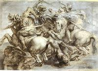 Peter Paul Rubens's copy of The Battle of Anghiari, a lost painting from 1505 by Leonardo da Vinci.