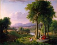 """View near Rutland, Vermont,"" by Asher Brown Durand (American, 19th Century), 1837.  Oil on canvas, 29 1/4 x 36 1/4 inches.  Purchase with funds from Mrs.  J.  Mack Robinson.  Object number: 1993.100.  Courtesy of High Museum of Art."