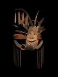 At the Winter Antiques Show, Donald Ellis Gallery sold this Complex Mask (Donati Studio Mask) Yup'ik; Kuskokwim Region, Alaska, circa.  1890-1905, wood, pigment, sinew, vegetal fiber, cotton thread, replaced feathers,height: 34 inches.
