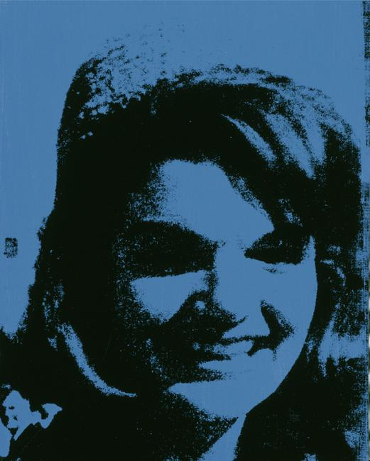 Andy Warhol Jackie, 1964.  synthetic polymer paint and silkscreen ink on canvas.  Collection of Williams College Museum of Art; Partial gift of The Andy Warhol Foundation for the Visual Arts, Inc.  and museum purchase from the John B.  Turner '24 Memorial Fund and Karl E.  Weston Memorial Fund