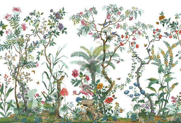 Décor Chinoise, by Zuber & Cie.  Designed in 1832 by Ehrmann & Zipelius to create 386 woodblocks + 57 colors.
