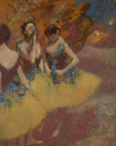 Edgar Degas, Three Dancers in Yellow Skirts, ca.  1891.  Oil on canvas.  Michael Armand Hammer and the Armand Hammer Foundation.