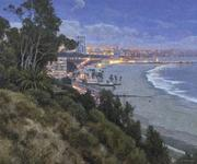 "Dennis Doheny, ""City Lights, Santa Monica"", 30 x 36, Oil on linen"