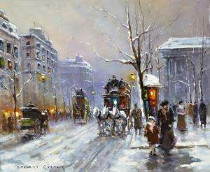 Two paintings by the renowned French painter Edouard Leon Cortes, including this one, will be sold at auction Sept.  20-21 in New Orleans, La.