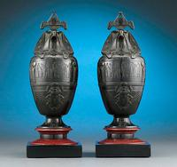 Egyptian Revival Canopic Urns by Georges Servant