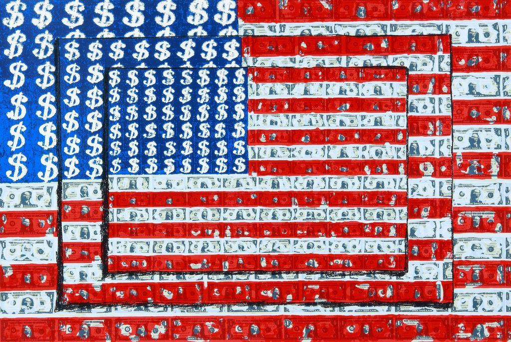 Emiliano Gironella Parra, Homage to Jasper Johns, Silkscreen, 25.5 x 38 inches
