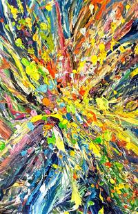 Erin Cooke,Splatter Abstraction I,Acrylic on Canvas,36''x24''