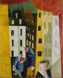 Lyonel Feininger Architecture II (The Man from Potin) [Architektur II], 1921 Oil on canvas, 39 8/10 x 31 7/10 in (101 x 80.5 cm) Museo Thyssen-Bornemisza, Madrid © Lyonel Feininger Family, LLC./Artists Rights Society (ARS), New York Photograph © Museo Thyssen-Bornemisza, Madrid