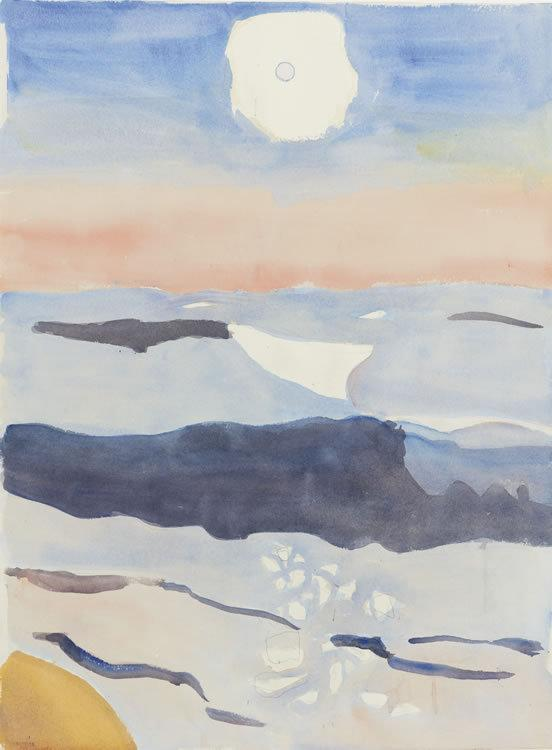 "Fairfield Porter, ""Sunrise"" Currently available at Questroyal Fine Art."