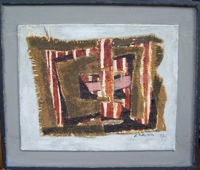 Fannie Hillsmith, Abstraction, 1945, artist-made frame