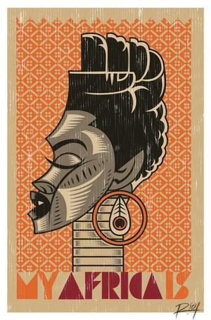 Studio Riot, »My Africa Is«, 2012, Poster (limitierte Auflage), © R!OT, Johannesburg Studio Riot, »My Africa Is«, 2012, limited poster edition, © R!OT, Johannesburg.  Courtesy Vitra Design Museum
