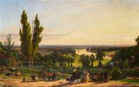 Jasper Cropsey's painting of Richmond Hill, 1862.