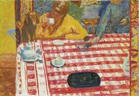 Pierre Bonnard, Le Café, 1915, Coffee.  Oil on canvas, 73 × 106.4 cm.  Tate, presented by Sir Michael Sadler through the Art Fund 1941.