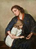 Lilla Cabot Perry (1848-1933) Mother and Child, c.  1912.  Oil on canvas 40 x 30 inches.  Signed upper left: Lilla Cabot Perry.