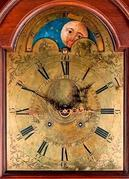 Baldwin House Antiques will offer a tall-case clock, dated 1789, created by noted Philadelphia clockmaker John Heilig to honor George Washington's inauguration as the nation's first president.