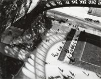 André Kertész, American (b.  Budapest, Hungary, 1884–1985) Eiffel Tower, 1929.  Gelatin-silver print, printed, ca.  1939.  Museum purchase, gift of Mr.  Edwynn Houk, Renée & Paul Mansheim, Mr.  and Mrs.  Thomas Lane Stokes, Jr., Mr.  and Mrs.  Robert K.  Molloy, Mr.  Robert McLanahan Smith, III, Mr.  and Mrs.  Richard M.  Waitzer, Mr.  Calvin H.  Childress, Mr.  and Mrs.  Howard M.  Martinez, Jr., and in memory of Alice R.  and Sol B.  Frank © Estate of André Kertész