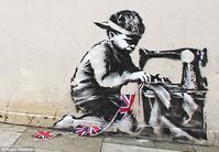 Banksy's Slave Labour mural.
