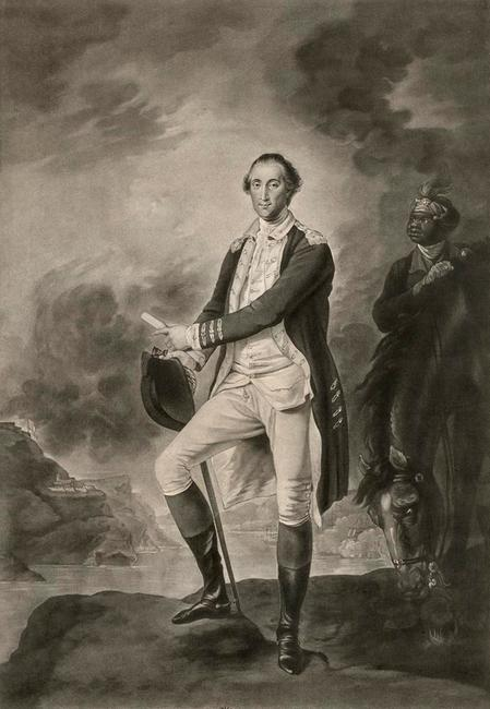 Engraved by Valentine Green, after a painting by John Trumbull, George Washington, 1781, mezzotint with engraving on laid paper, the Museum of Fine Arts, Houston, the Bayou Bend Collection, gift of Miss Ima Hogg.