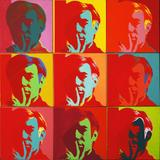 "Andy Warhol, Self-Portrait, 1966.  Silkscreen ink on synthetic polymer paint on nine canvases.  Each canvas 22 1/2 x 22 1/2"" (57.2 x 57.2 cm), overall 67 5/8 x 67 5/8"" (171.7 x 171.7 cm) Gift of Philip Johnson.  Credit Line: © 2010 Andy Warhol Foundation for the Visual Arts / Artists Rights Society (ARS), New York"