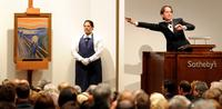 Tobias Meyer, former principal auctioneer at Sotheby's, selling Edvard Munch's The Scream for $119,9 million in May 2012.