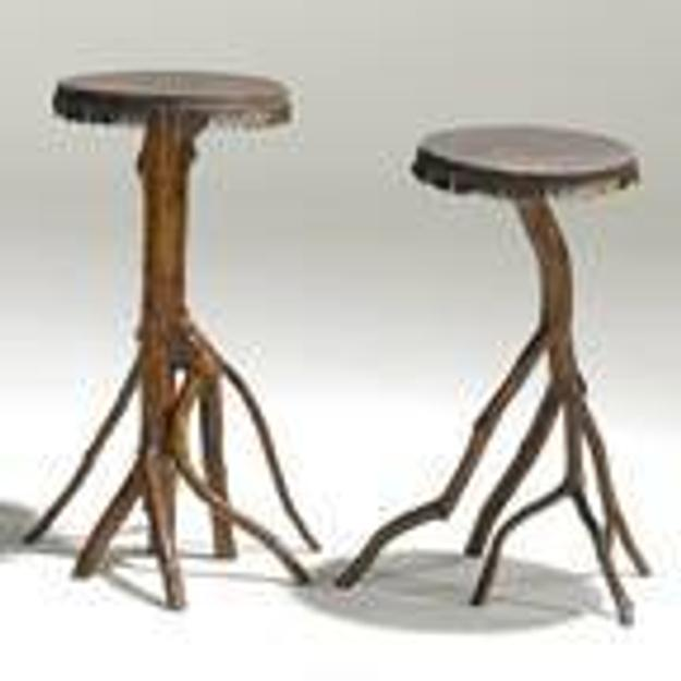 281, Rustic, Pair of hand-made twig stands, ca.  1901, $1,400-2,200