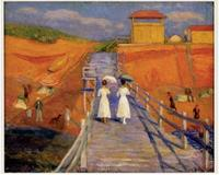 William Glackens, Cape Cod Pier, 1908, oil on canvas, 26 in.  x 32 in.  NSU Museum of Art Fort Lauderdale, Gift of anonymous donor.
