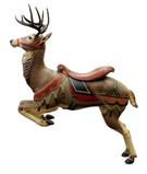 This beautiful carousel reindeer, created by Gustav Dentzel, Philadelphia, in the early 20th century, sold for $14,200.