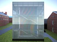 East façade, Colby College Museum of Art Expansion, © Frederick Fisher and Partners Architects