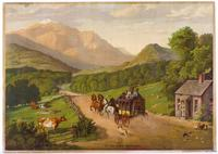 At the White Mountains, c.  1875, Chromolithograph