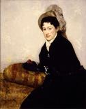 Mary Cassatt, Portrait of Madame X Dressed for the Matinée, 1878.  Oil on canvas, 39 3/8 x 31 7/8 inches.  Collection of Charlotte and Philip Hanes.  L2010.82