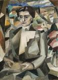 Portrait of Madame H.  M.  Barzun by Albert Gleizes (1881-1953)