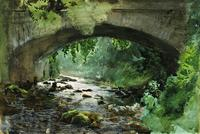 Anders Zorn, River under Old Stone Bridge, 1884.  Watercolor, 9 3/16 x 13 7/8 in.  (23.3 x 35.2 cm) Zornmuseet, Mora.