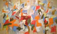 Joseph Fiori Untitled, 1954 Oil on canvas 20 x 34 inches Private Collection, Roslyn, New York