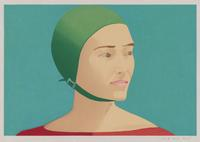 The Green Cap, 1985, Alex Katz (American, born in 1927) Woodcut.  Promised gift of Alex Katz © 2012 Alex Katz/Licensed by VAGA, New York, NY.  Photograph © Museum of Fine Arts, Boston
