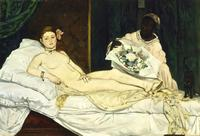 Manet's Olympia, 1863.