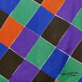 [Detail] Multicolored Sonia Delaunay-Terk Shawl Entitled 'A Damiers,' France, c.  1977 (Lot 556, Estimate $600-$800)