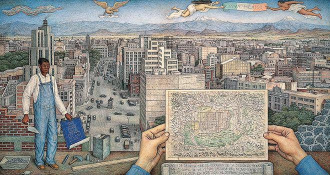 Mexico City, 1949, by Juan O'Gorman (Acervo CONACULTA - INBA, Museo de Arte Moderno, Mexico City)