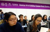 Graduate students in art history from Peking University, Tsinghua University, and the Central Academy of Fine Arts participate in a Terra Foundation-supported workshop prior to the November 2013 international conference on American art at Tsinghua University, in Beijing.