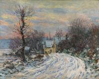 """L'Entree de Giverny en hiver,'' an 1885 landscape by Claude Monet, sold for 8.2 million pounds at Sotheby's Feb.  8 sale of Impressionist and modern art."
