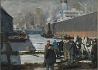 "George Bellows' 1912 ""Men of the Docks"" was purchased by the National Gallery in London for $25.5 million."