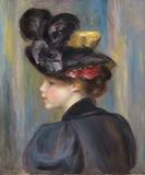 Jeune Femme au Chapeau Noir by Pierre-Auguste Renoir, from Hammer Galleries, at the American International Fine Art Fair in Palm Beach through Feb.  13, 2011.
