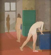 The Blue Towel by Euan Uglow