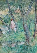 Findlay Galleries: The Willow and the Bather by Childe Hassam (1859-1935)
