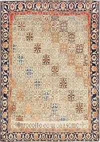 Fine Antique Persian Mohtashem Kashan Rug 47483