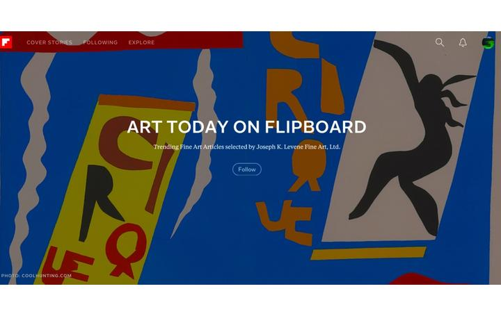 Follow Art Today on Flipboard by Joseph K.  Levene Fine Art, Ltd.