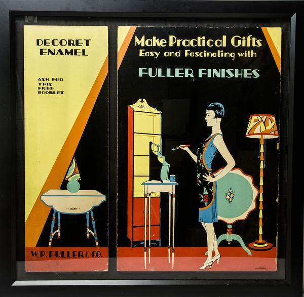 A framed Fuller Paint advertising from the 1920s is part of the pop culture in Witherell's summer auction.